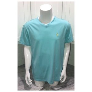 Ralph Lauren Mens v neck shirt Blue Large L